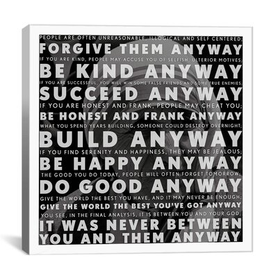 iCanvasArt Mother Teresa Quote Canvas Wall Art