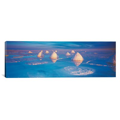 iCanvasArt Panoramic Salt Pyramids on Salt Flat, Salar De Uyuni, Potosi, Bolivia Photographic Print on Canvas