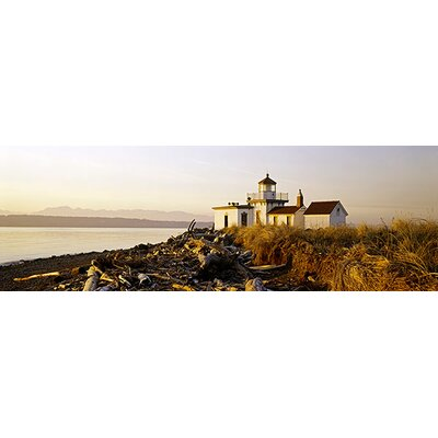 iCanvasArt Panoramic West Point Lighthouse, Seattle, Washington State Photographic Print on Canvas