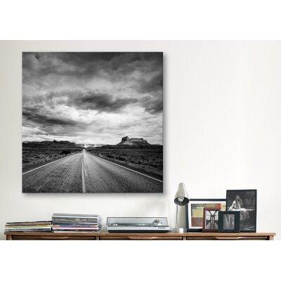 "iCanvasArt ""Long Stretch of Road #2"" Canvas Wall Art by Dan Ballard"