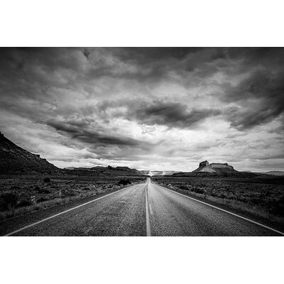 iCanvasArt 'Long Stretch of Road' by Dan Ballard Photographic Print on Canvas