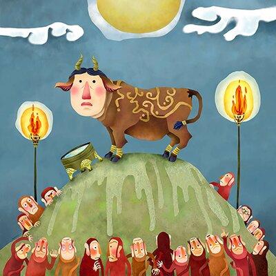 """iCanvasArt """"Kudan"""" Canvas Wall Art by Youchan"""