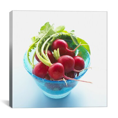 iCanvasArt Radish in a Bowl Photographic Canvas Wall Art