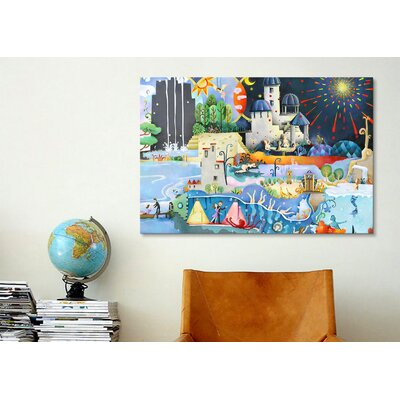 iCanvasArt 'Panorama' by Youchan Painting Print on Canvas