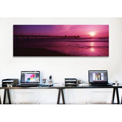 iCanvasArt Panoramic San Diego Pier, San Diego, California Photographic Print on Canvas