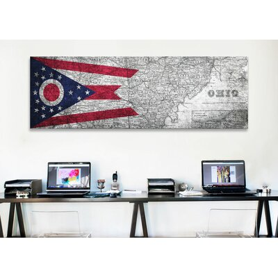 iCanvasArt Flags Ohio Panoramic Graphic Art on Canvas
