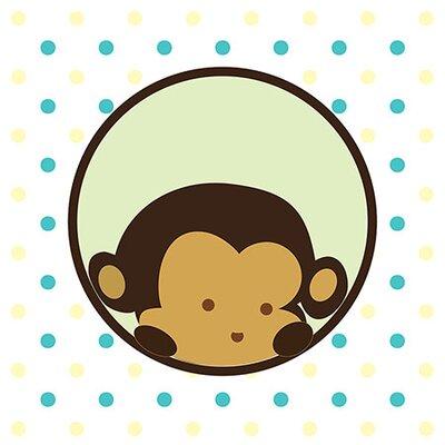 iCanvasArt Kids Children Monkey Face Spots Canvas Wall Art