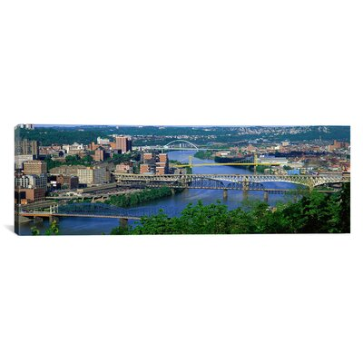 iCanvasArt Panoramic 'Monongahela River, Pittsburgh, Pennsylvania' Photographic Print on Canvas
