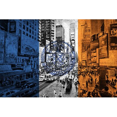 iCanvasArt Flags New York Times Square Graphic Art on Canvas