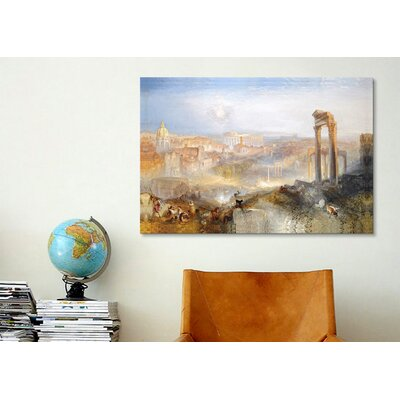 iCanvasArt 'Modern Rome, Campo Vaccino' by Jospeh William Turner Painting Print on Canvas