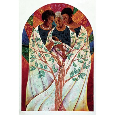 iCanvasArt 'Family Tree' by Keith Mallett Painting Print on Canvas