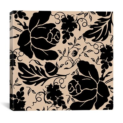 iCanvasArt Grapes and Buds by Mindy Sommers Graphic Art on Canvas in Black / Beige