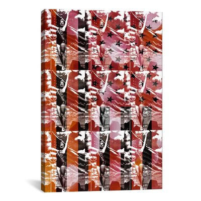 iCanvasArt Pat Donnelly Miss America Flag Graphic Art on Canvas in Red/Black