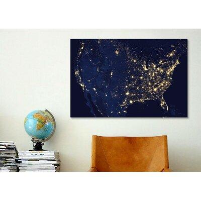 iCanvasArt The Earth at Night Canvas Wall Art