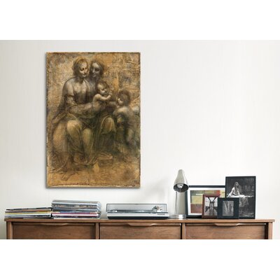 iCanvasArt 'The Virgin and Child with Saint Anne and Saint John the Baptist' by Leonardo Da Vinci Painting Print on Canvas
