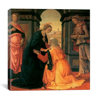"""iCanvasArt """"The Visitation"""" Canvas Wall Art by Domenico Ghirlanaio"""