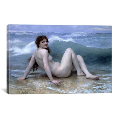 iCanvasArt 'The Wave (La Vague)' by William-Adolphe Bouguereau Painting Print on Canvas