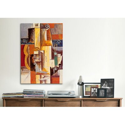 iCanvasArt 'Violin and Guitar' by Pablo Picasso Painting Print on Canvas