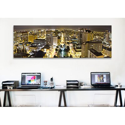 iCanvasArt Panoramic 'San Jose Skyline Cityscape (Night View)' Photographic Print on Canvas