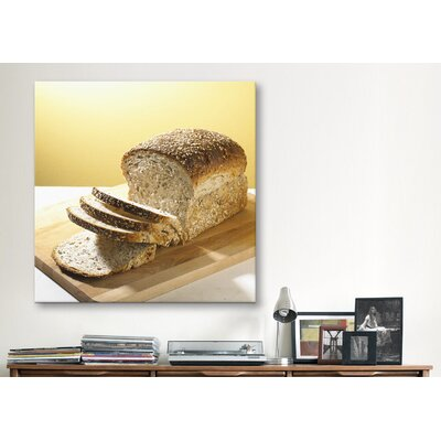 iCanvasArt Sliced Brown Bread Photographic Canvas Wall Art