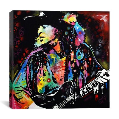 iCanvasArt 'Stevie Ray Vaughan' by Dean Russo Graphic Art on Canvas