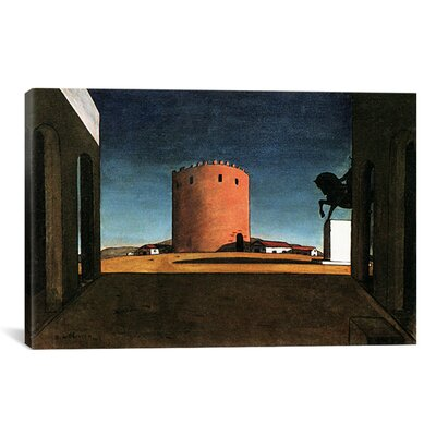 """iCanvasArt """"The Red Tower"""" Canvas Wall Art by Giorgio de Chirico"""
