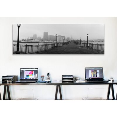 iCanvasArt Panoramic Street Lamps on a Bridge, San Francisco, California Photographic Print on Canvas