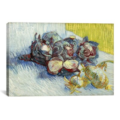 iCanvasArt 'Still Life with Red Cabbages and Onions' by Vincent Van Gogh Painting Print on Canvas
