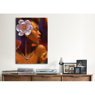 "iCanvasArt ""Woman With Pearl Neclace"" Canvas Wall Art by Keith Mallett"