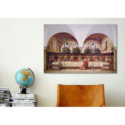iCanvasArt 'The Last Supper' by Domenico Ghirlanaio Painting Print on Canvas