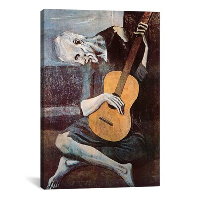 iCanvasArt 'The Old Guitarist' by Pablo Picasso Painting Print on Canvas