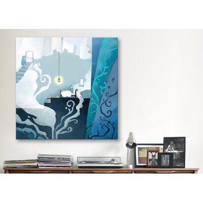 "iCanvasArt ""Snowman"" Canvas Wall Art by Youchan"