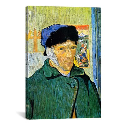 iCanvasArt 'Self-Portrait with Bandaged Ear' by Vincent Van Gogh Painting Print on Canvas