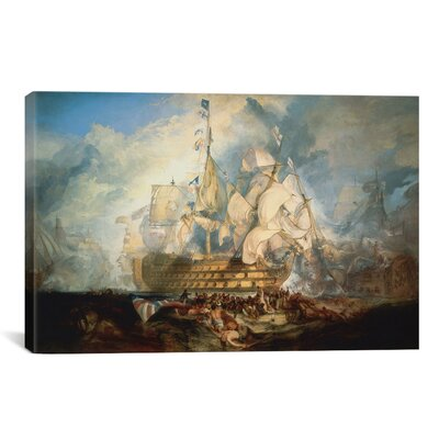 iCanvasArt 'The Battle of Trafalgar 1822-1824' by Joseph William Turner Painting Print on Canvas