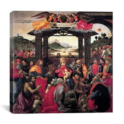 """iCanvasArt """"The Adoration of The Magi"""" Canvas Wall Art by Domenico Ghirlanaio"""