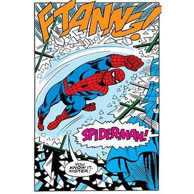 iCanvasArt Marvel Comics Spiderman Panel B Graphic Art on Canvas