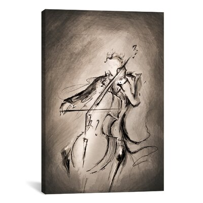 iCanvasArt 'The Cellist' by Marc Allante Graphic Art on Canvas