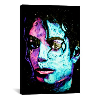iCanvasArt Michael Jackson 001 Canvas Wall Art by Rock Demarco