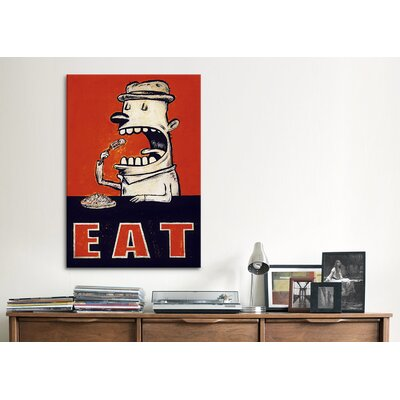 iCanvasArt 'Eat' by Daniel Peacock Graphic Art on Canvas
