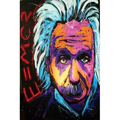 iCanvasArt Einstein New 001 Canvas Print Wall Art