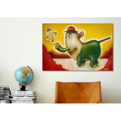 iCanvasArt 'Elephancy' by Daniel Peacock Painting Print on Canvas