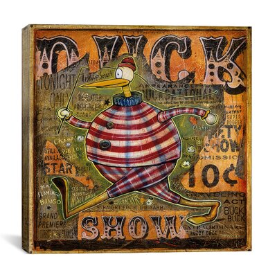 iCanvasArt 'Duck Show' by Daniel Peacock Vintage Advertisement on Canvas