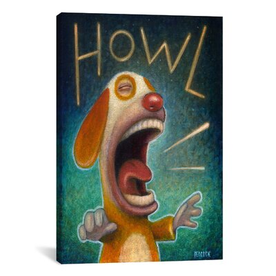 iCanvasArt 'Howl' by Daniel Peacock Painting Print on Canvas