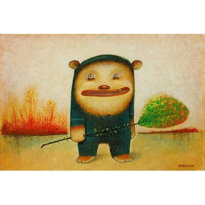 iCanvasArt 'Blue Bear' by Daniel Peacock Painting Print on Canvas