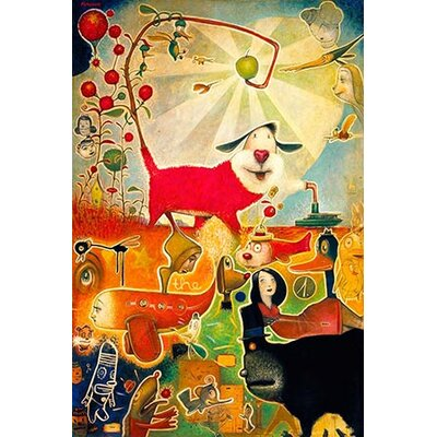 iCanvasArt 'Apple Vine' by Daniel Peacock Painting Print on Canvas