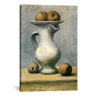 iCanvasArt Picasso Still Life with A Pitcher And Apples Canvas Print Wall Art
