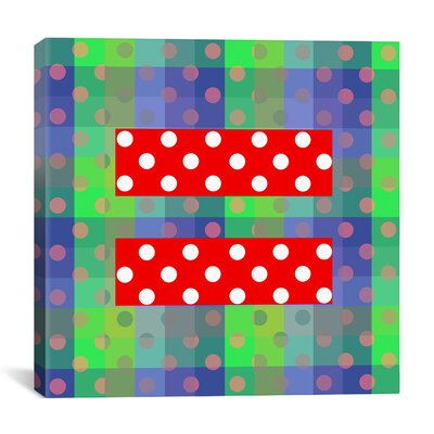 iCanvasArt Flags Gay Red Equality Sign, Equal Rights Symbol Graphic Art on Canvas in Green