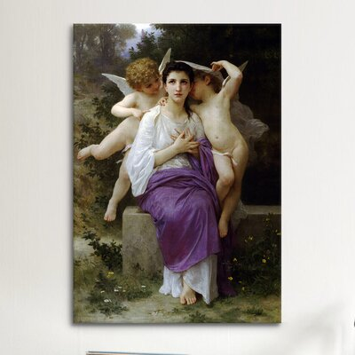 iCanvasArt 'Leveil Heart' by William-Adolphe Bouguereau Painting Print on Canvas