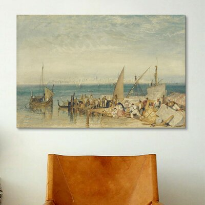 iCanvasArt 'Venice from Fusina' by Jospeh William Turner Painting Print on Canvas