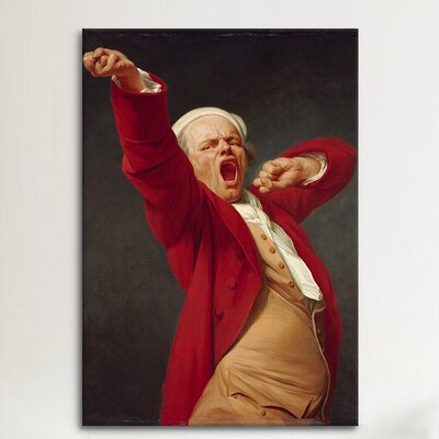 iCanvasArt 'Self-Portrait (Yawning)' by Joseph Ducreux Painting Print on Canvas